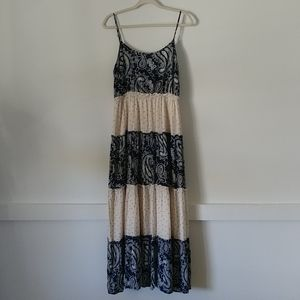 Esley Boho Paisley Print Maxi Dress Size L